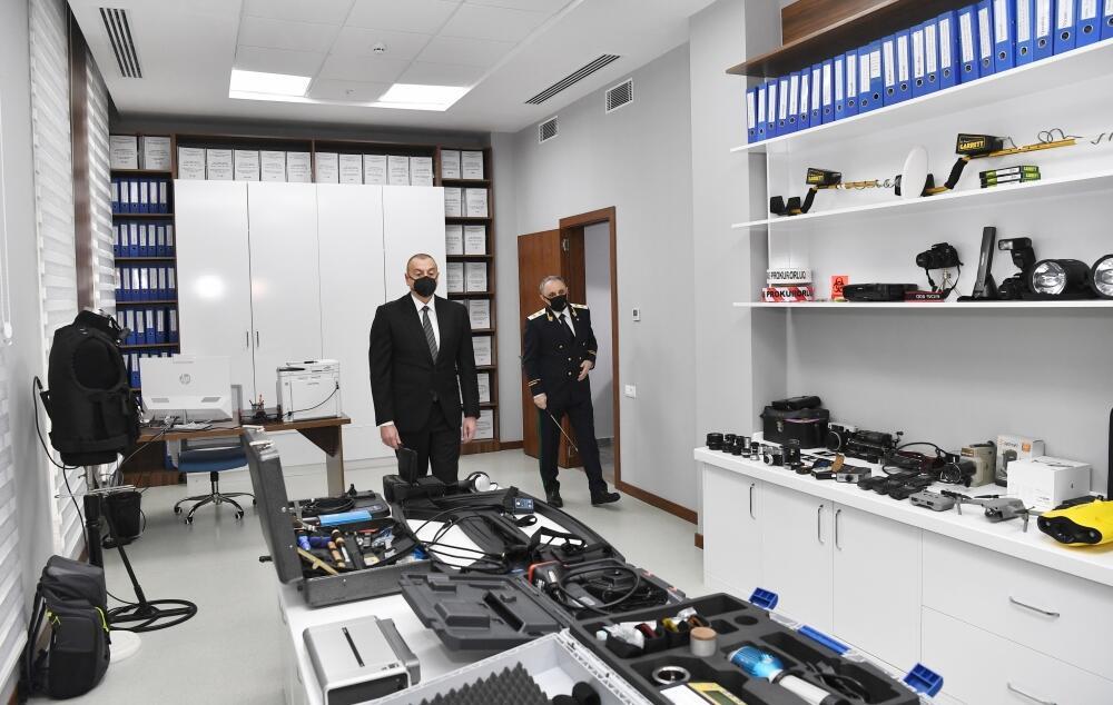 Президент Ильхам Алиев принял участие в открытии нового комплекса административного здания Генеральной прокуратуры