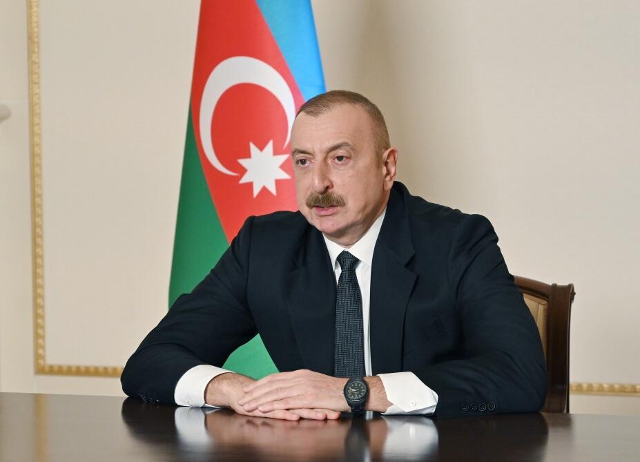 Президент Ильхам Алиев выступил на VII заседании министров в рамках Консультативного совета Южного газового коридора в формате видеоконференции