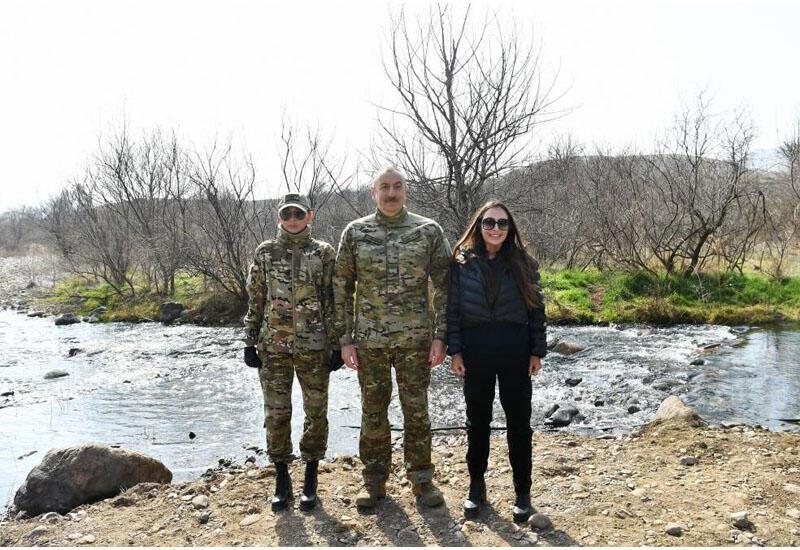 Президент Ильхам Алиев и Первая леди Мехрибан Алиева посетили Физулинский, Зангиланский, Лачинский и Джебраильский районы