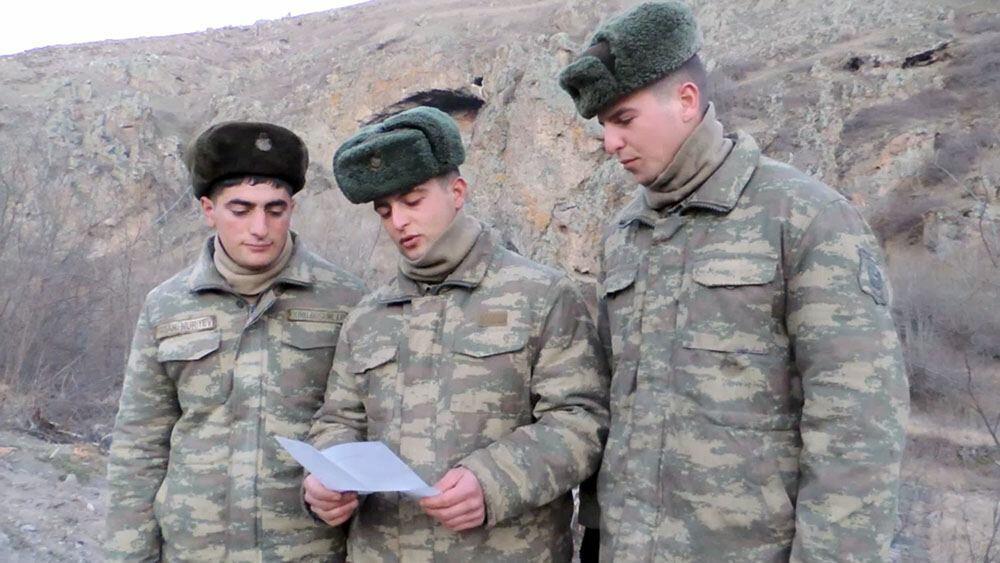 В Лачине организована встреча с солдатами
