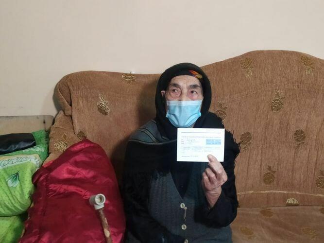 101-летняя жительница Исмаиллы привита от коронавируса