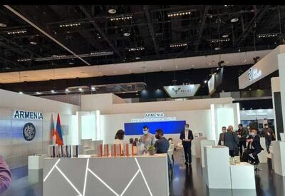 Пустой и никому не нужный армянский стенд на оборонной выставке IDEX-2021 в ОАЭ - ФОТО