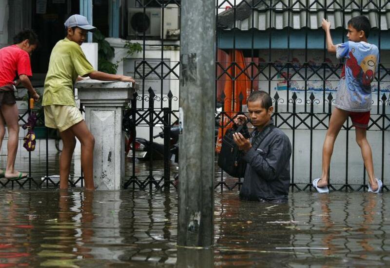 Наводнение в столице Индонезии