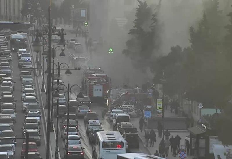 В Баку наблюдаются пробки