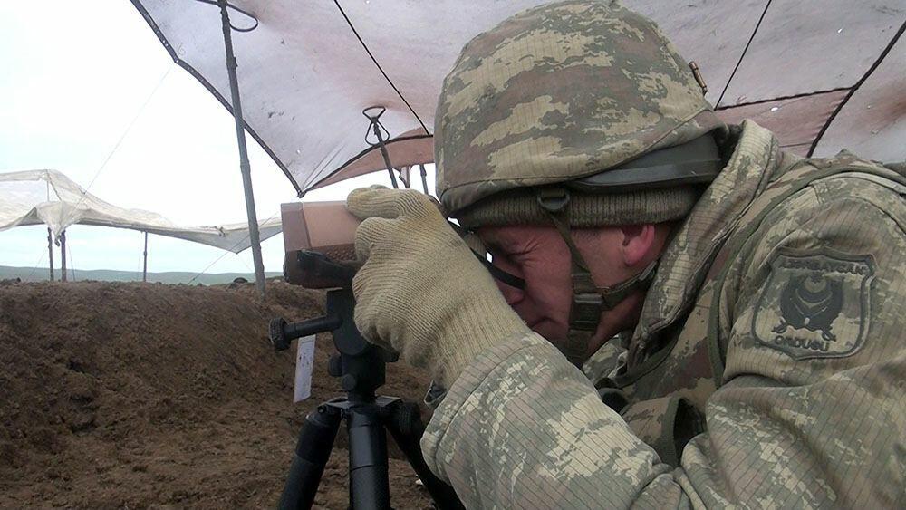 Азербайджанские минометчики продолжают учебные тренировки