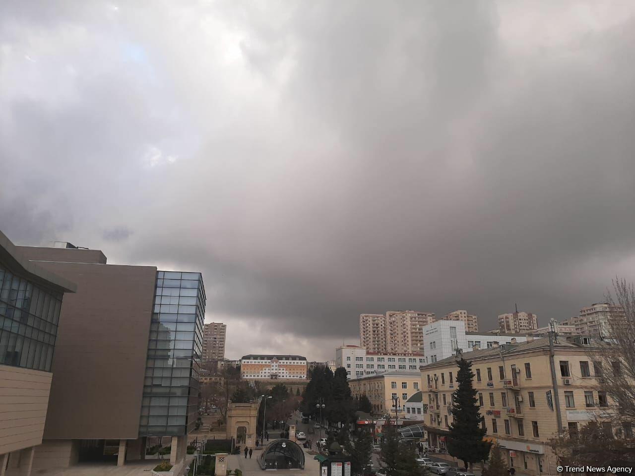 Погода в Баку резко изменилась