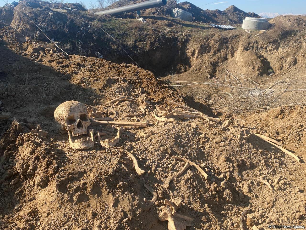 В Агдаме найдены фрагменты человеческого скелета