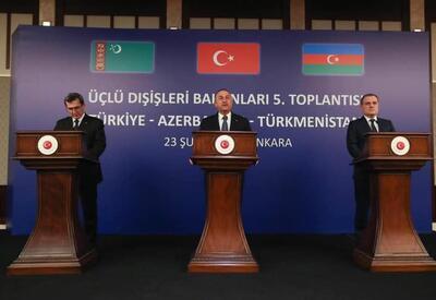 Главы МИД Азербайджана, Турции и Туркменистана приняли совместное заявление  - по итогам трехсторонней встречи
