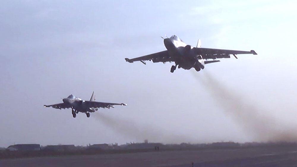 Опубликованы кадры авиаударов по армянским ВС в войне за Карабах