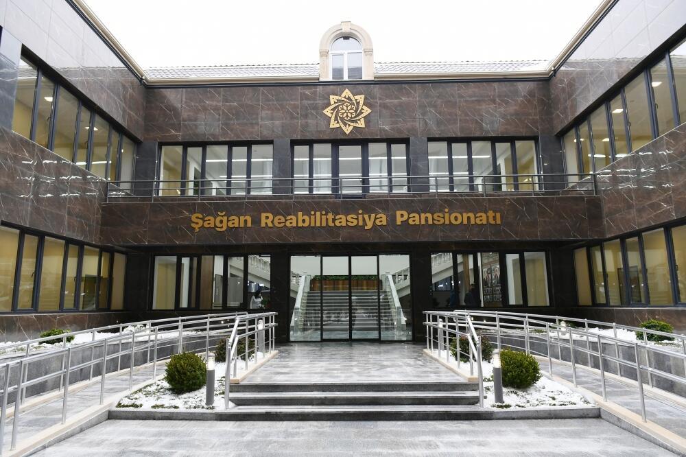 Президент Ильхам Алиев принял участие в открытии Шаганского реабилитационного пансионата