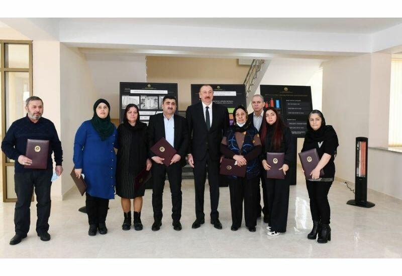 Президент Ильхам Алиев: Азербайджанское государство и я, как Президент, всегда будем рядом с членами семей шехидов и инвалидами войны