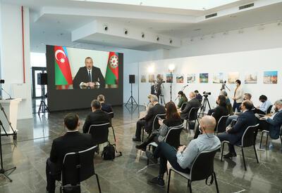 Президент Ильхам Алиев провел пресс-конференцию для представителей местных и зарубежных СМИ - ОБНОВЛЕНО - ФОТО - ВИДЕО