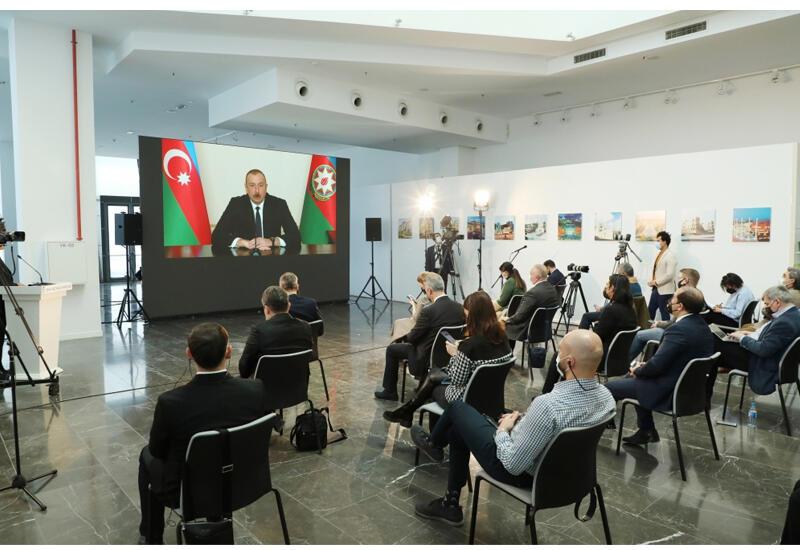 Prezident İlham Əliyev yerli və xarici media nümayəndələri üçün mətbuat konfransı keçirib