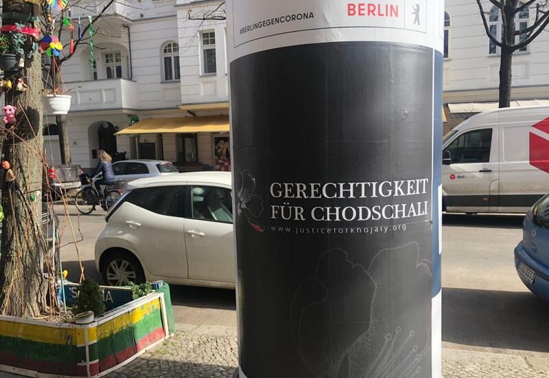 """Кампания """"Справедливость к Ходжалы!"""" проводит в Берлине информационную акцию"""