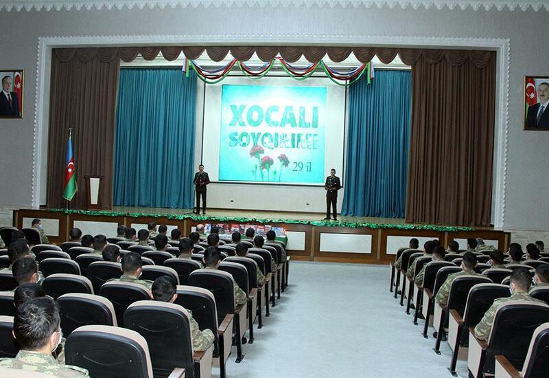 В армии Азербайджана проведены мероприятия в связи с 29-й годовщиной Ходжалинского геноцида