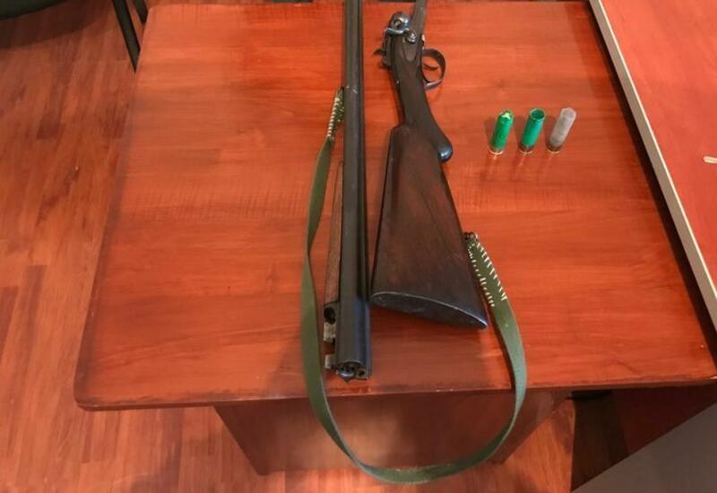 У жителя Агсу изъято огнестрельное оружие