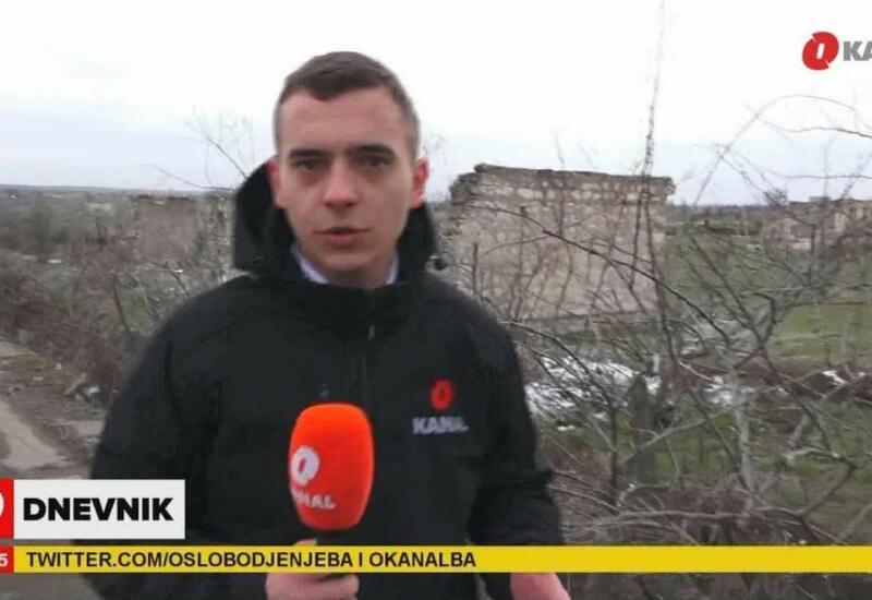 Сотрудники боснийского телеканала «O Kanal» посетили освобожденный от оккупации Агдам