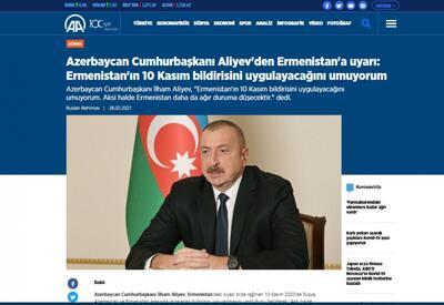 Пресс-конференция Президента Ильхама Алиева широко освещена зарубежными СМИ - ФОТО