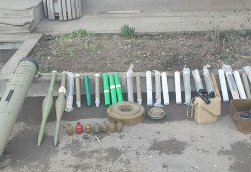 В Ходжавенде обнаружены оставленные армянами при бегстве боеприпасы