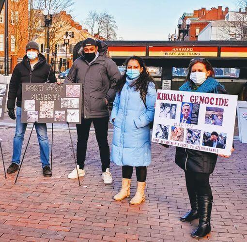 В Бостоне прошла «молчаливая» акция в связи с Ходжалинским геноцидом