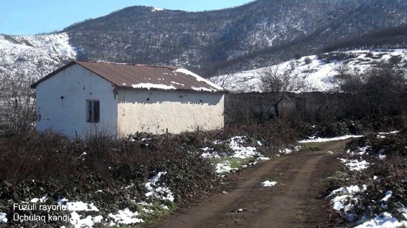 Разрушенное село Учбулаг в Физули