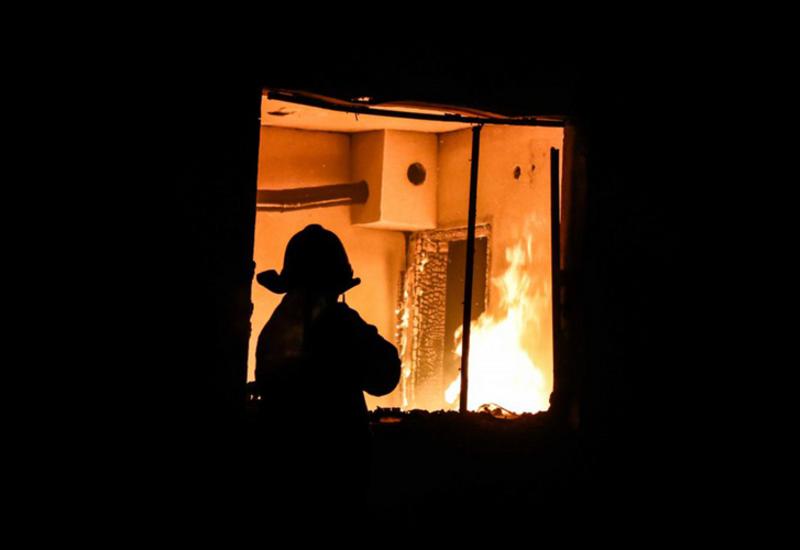 В Агстафе сгорел дом