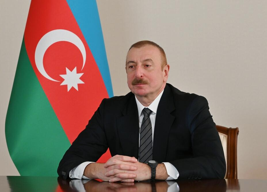 Президент Ильхам Алиев в видеоформате принял делегацию во главе с председателем Объединенного комитета начальников штабов Пакистана