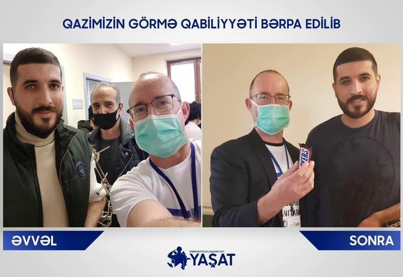 Израильский врач вернул зрение участнику Отечественной войны Азербайджана