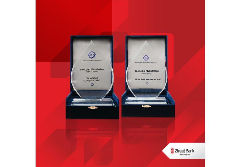 Ziraat Bank Azərbaycan həyata keçirdiyi layihələr üzrə mükafatlara layiq görüldü (R)