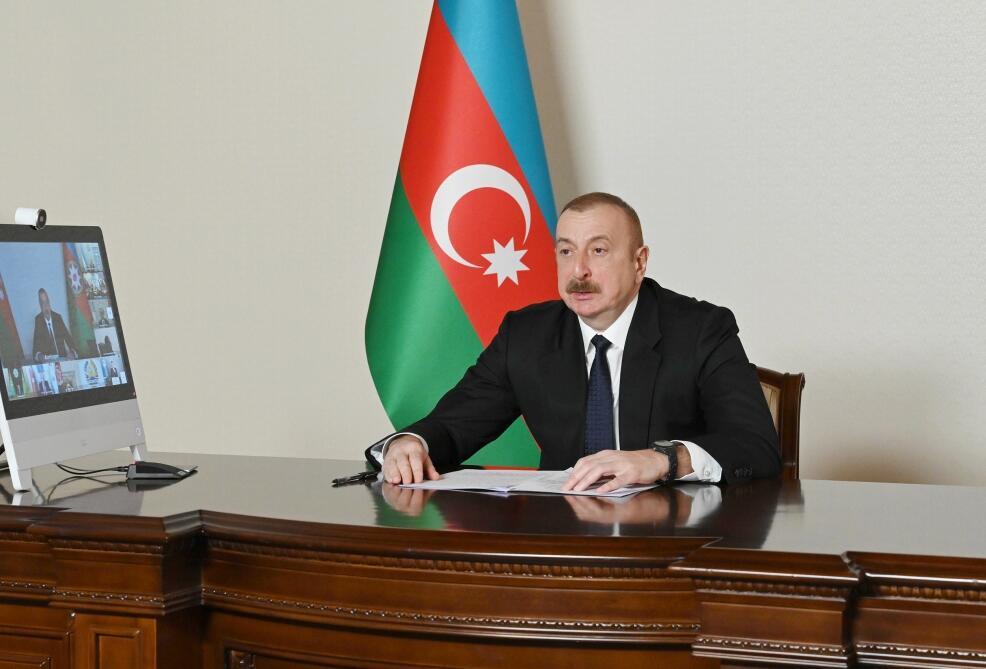 Президент Ильхам Алиев выступил на онлайн Саммите Организации экономического сотрудничества