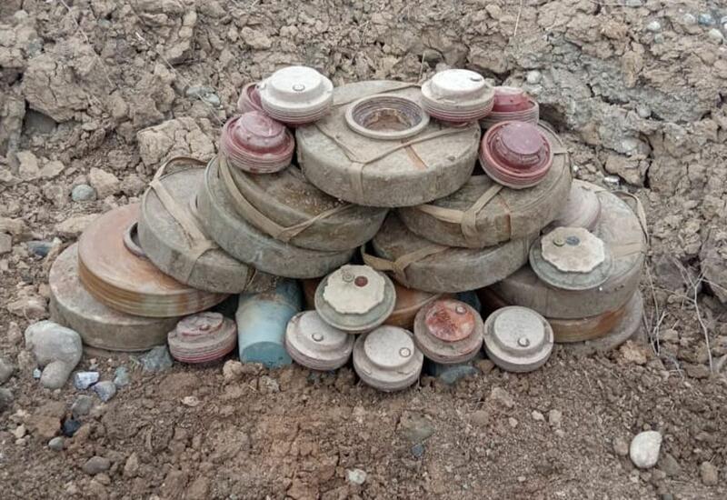 На территории подрыва на мине чиновника в Агдаме найдены еще 3 мины