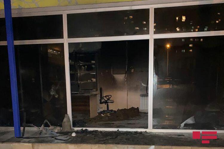 В Баку горит банк
