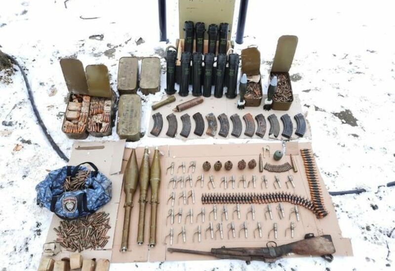 Армяне оставили боеприпасы, убегая из Шуши