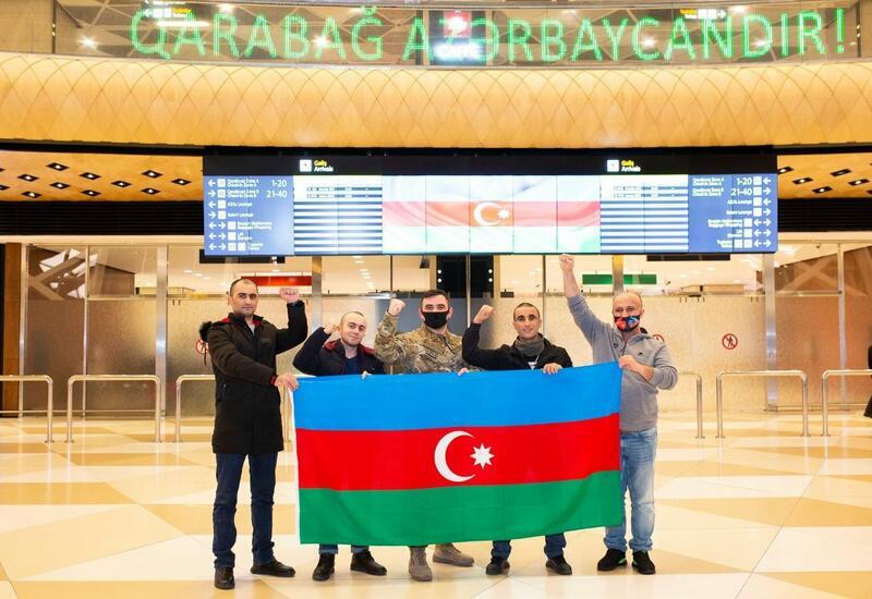 Четверо участников войны вернулись на родину после лечения в Турции