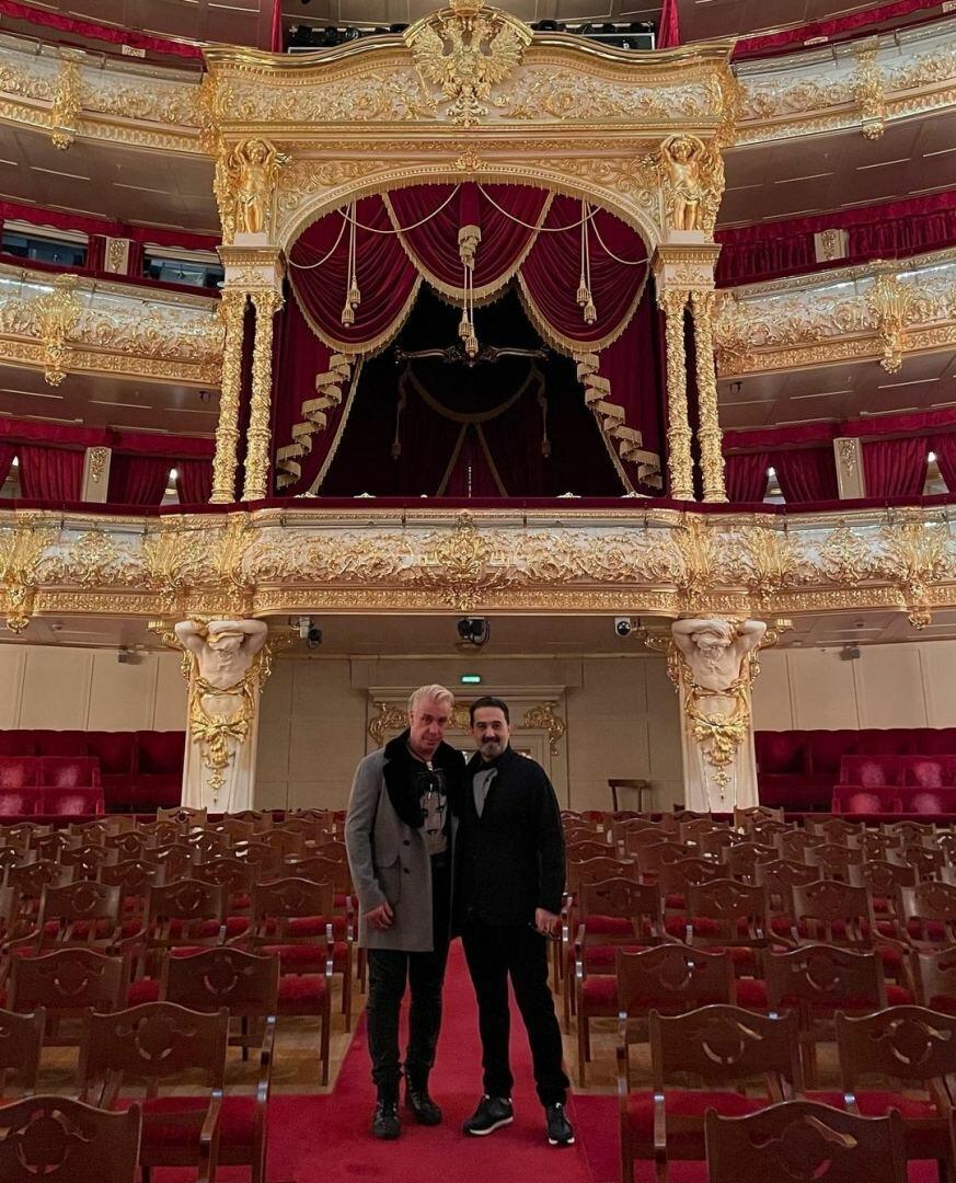 Эльчин Азизов встретился с фронтменом группы Rammstein