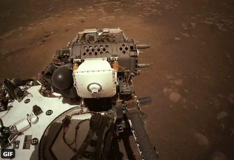 Первые метры Perseverance по поверхности Марса