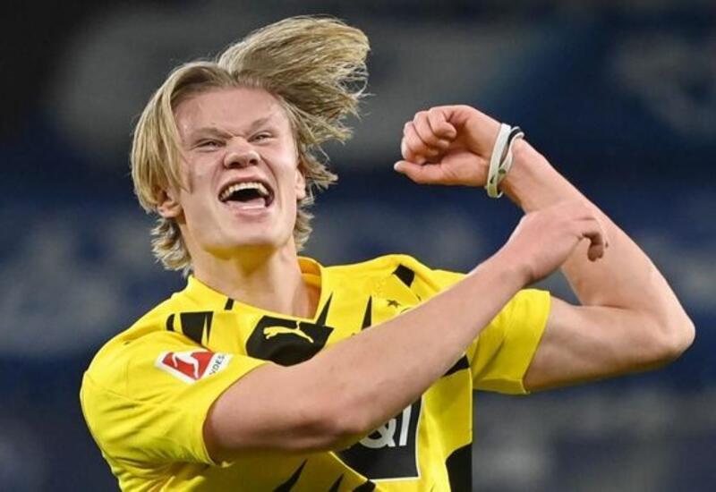20-летний норвежский форвард Холанд забил первые сто голов быстрее, чем Месси и Роналду