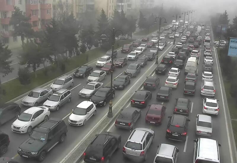 В Баку на этих улицах и проспектах крупные пробки