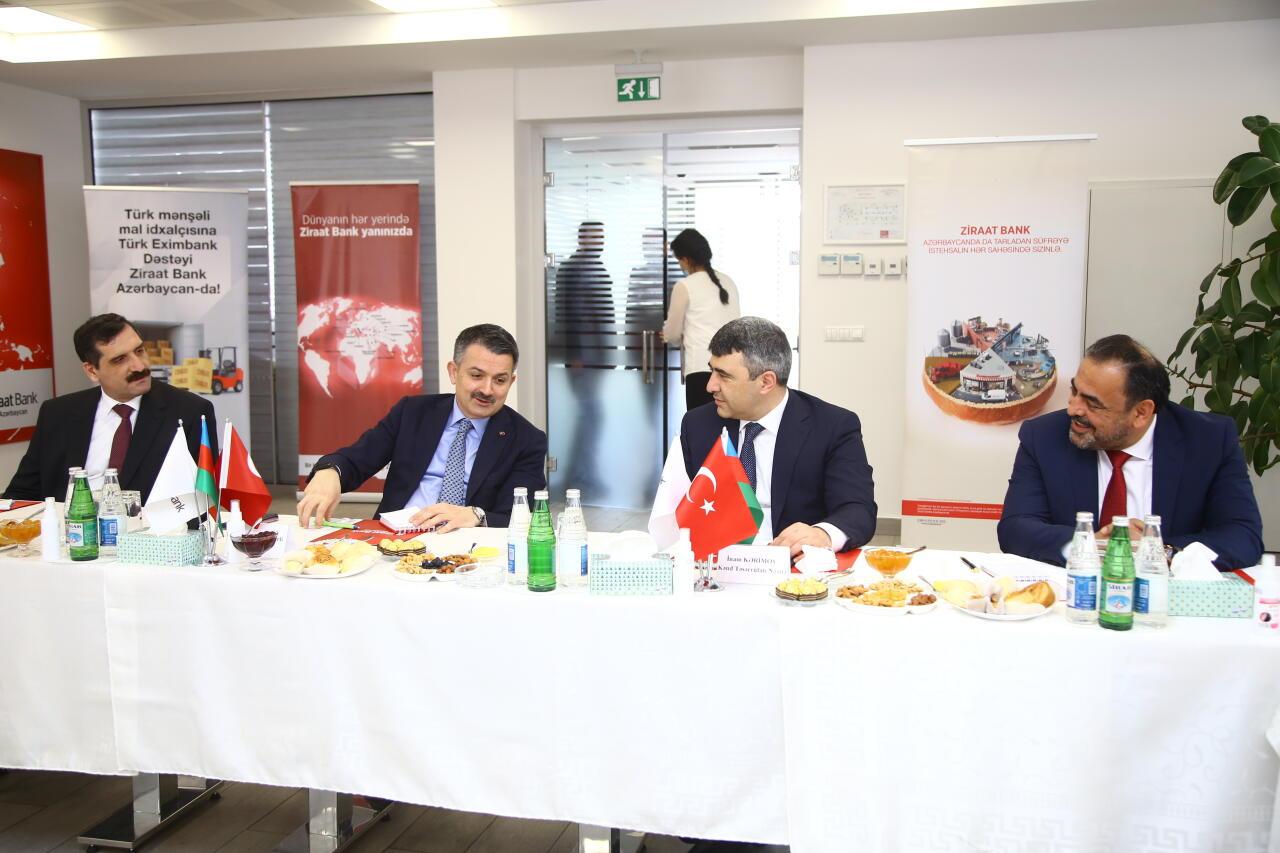 Qardaş İki Ölkənin Kənd Təsərrüfatı Nazirlərindən Ziraat Bank Azərbaycana Ziyarət