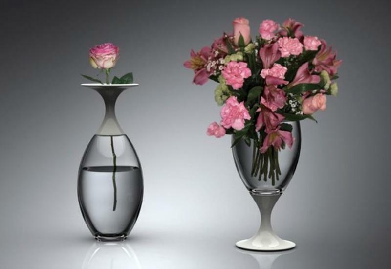 Как быстро отмыть вазу с узким горлышком