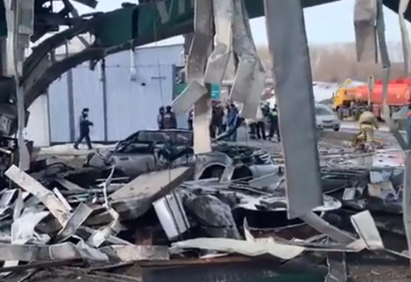 В России взорвалась автозаправка