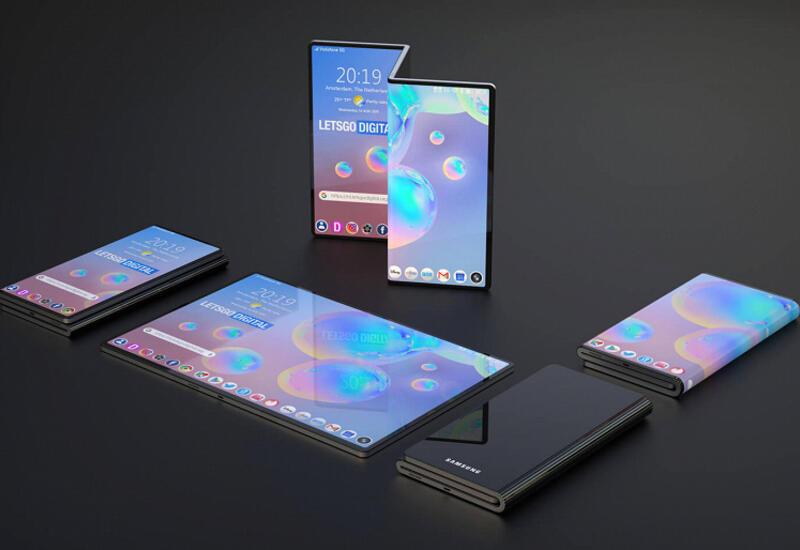 """Опубликованы изображения """"смартфона-гармошки"""" Samsung"""