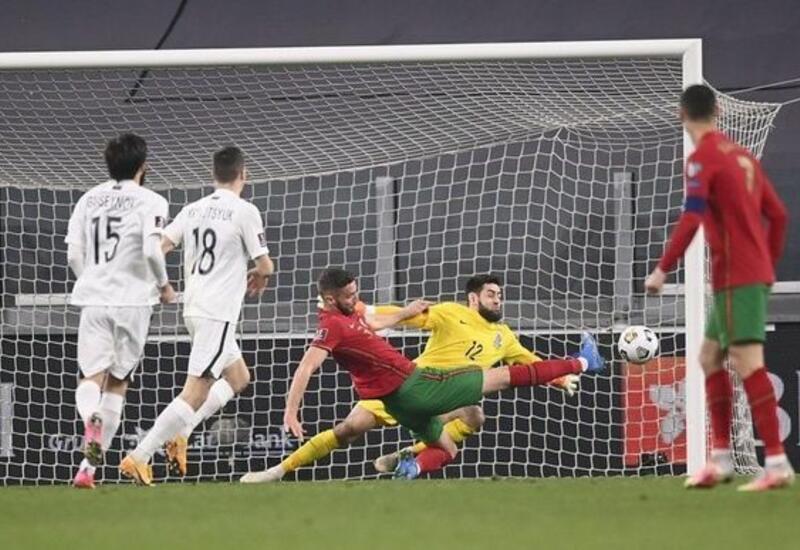 Вратарь сборной Азербайджана признан лучшим игроком матча с Португалией