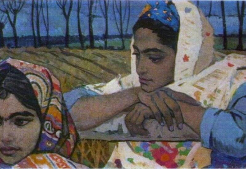 Азербайджанские келагаи в картинах художников