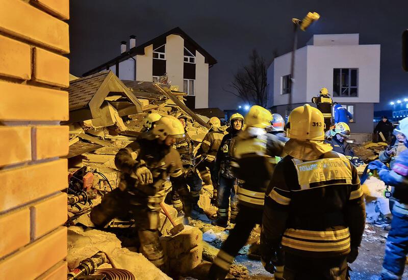 Сильный взрыв в Москве