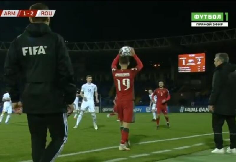 Армяне устроили провокацию в матче со сборной Румынии