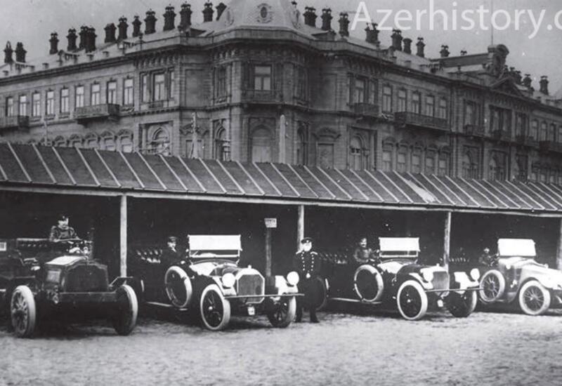 Первые автомобили в Баку