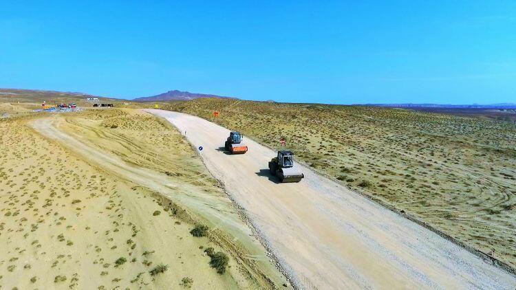 В зону грязевых вулканов прокладывается новая автодорога