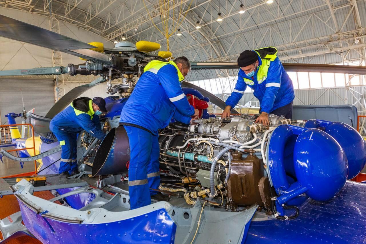 В Азербайджане завершен капитальный ремонт еще одного вертолета российского производства