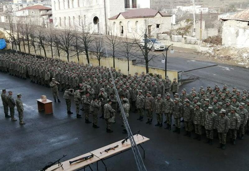 Церемония проводов уволенных в запас военнослужащих Азербайджанской Армии